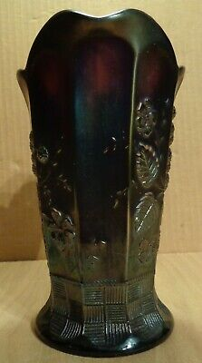 Northwood Glass RASPBERRY ANTIQUE CARNIVAL GLASS MILK PITCHER PURPLE