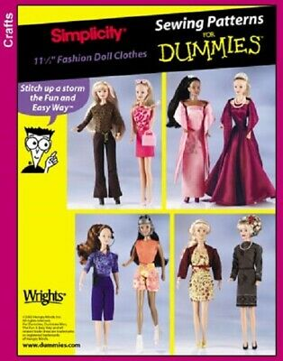 "Simplicity Pattern 7073 11 1/2"" Fashion Doll Clothes Evening Gown Dress Pants"