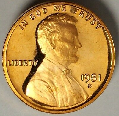 1981-S 1C Lincoln Memorial Cent 18ct0723 GDC Proof Only 50 Cents for Shipping