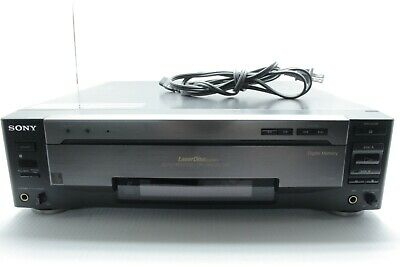 Sony MDP-800 Laserdisc LD Player w/ Original Remote Both Sides Play WORKS!
