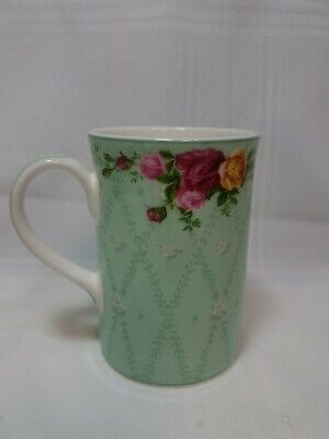 Mug - Cup - Royal Albert 2002 - Old Country Roses Peppermint Damask Bone China