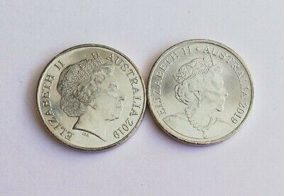 2 x 2019 20 Cent Coins - Two Different Effigy - From Mint Bag