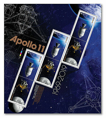 CANADA 2019  Moon Landing 50 Years Apollo 11: Pane of 6 stamps