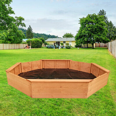 Kids Sandpit Wooden Play Large Round Outdoor Sand Pit Sand Box 177Cm
