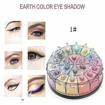 20 Colors Shimmer Eye Shadow Powder Palette Cosmetic Makeup Kit Earth GN