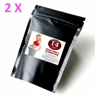 2 14 Day Detox Tea DOUBLE STRENGTH Colon Cleanse Weight Loss Skinny Me Mint Diet