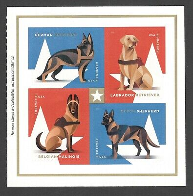 5405-08 (5408a) Military Working Dogs Block Of 4 MNH Shipping After 8/10