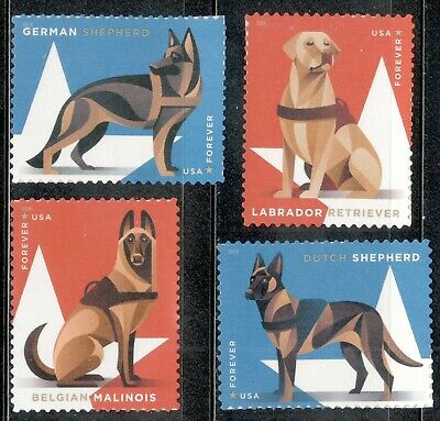 5405-08 Military Working Dogs Set Of 4 Mint/nh Shipping After 8/10