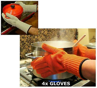 Medipaq® Long Wrist Protect Heat Proof Gloves (2X PAIRS) - Hold Hot, Even Hot