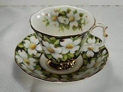 Royal Albert Provincial Flowers Dogwood Teacup Cup and Saucer. Excellent Cond.