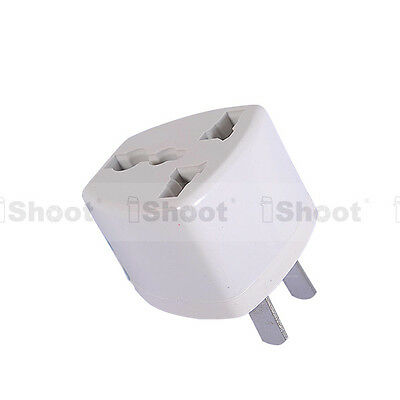UK EU AU to US AC Power Plug Adapter Converter Travel
