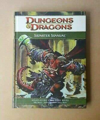 D&D Monster Manual Core Book RPG Hardcover 4th Edition Dungeons & Dragons