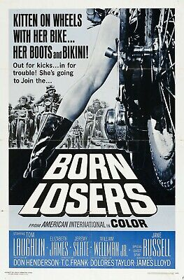 """BORN LOSERS Movie Silk Fabric Poster 27""""x40"""" Exploitation Billy Jack Grindhouse"""