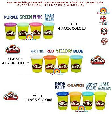 Play-Doh 4 Tub Classic Assorted Colors Set - Choose Your Quantity