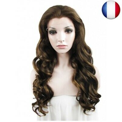 IMSTYLE Femme Long Perruque Lace Frontal Synthétique Brun Blond Cheveux (8/27)