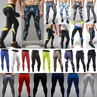 Gym Mens Compression Fitness Base Layer Camo Sports Running Yoga Jogger Leggings