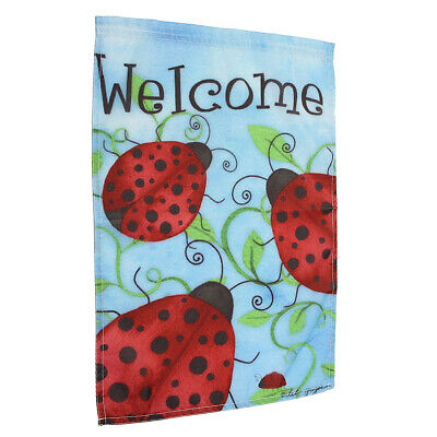 """12x18'' Ladybirds Welcome Garden Flags Yard Banner Holiday House Decorations"""""""