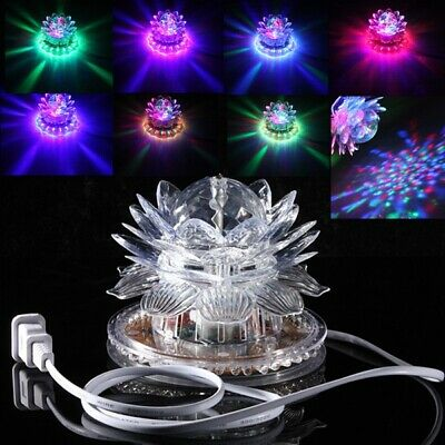 Auto Rotating 48 LED RGB Crystal  Lotus Projector Stage Effect Light For Disco C
