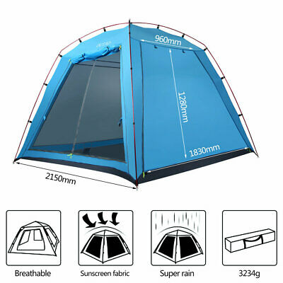 4-5 Person Pop Up Camping Tent Instant Dome Waterproof Automatic Family Shelter