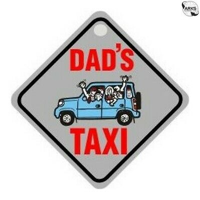 CASTLE PROMOTIONS Suction Cup Diamond Sign - Grey - Dad's Taxi DH08