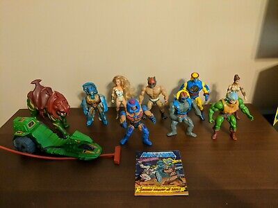 He-Man MOTU Classic Lot of 8 figures, Battle Cat, Mini Comic, & Road Ripper.
