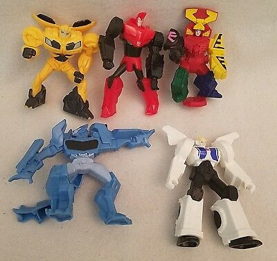McDonalds Transformers lot of 5 Robot Prime Happy Meal Toys Movie Action Figures