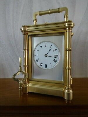 Stunning Henri Jacot antique repeater carriage clock - 1880/85 - o/hauled 06/19