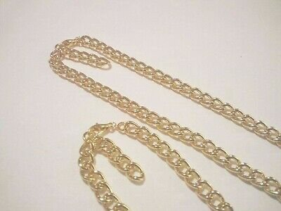 Newborn baby/childrens boys/girls gold Aluminum chain set