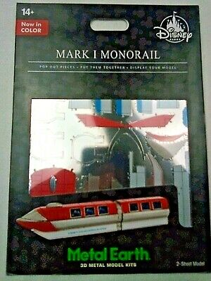 Disney Park Authentic Metal Earth 3D Model Kit Mark I 1 Monorail Color Transport