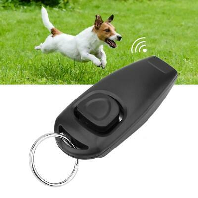 2 in 1 Dog Pet Puppy Obedience Click Training Clicker & Whistle With Key Ring Ca