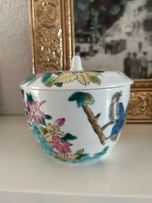 POT COUVERT Ancien  PORCELAINE CHINE CHINESE CHINOIS CHINE PORCELAINE  A11