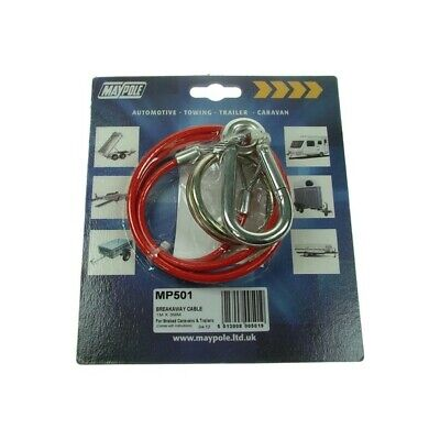 MAYPOLE Breakaway Cable - Plastic Coated - Red MP501