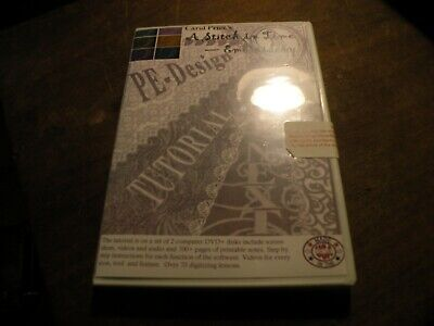 Carol Price PE-DESIGN 9/Next TUTORIAL DVD + Cutwork Brother Embroidery Software