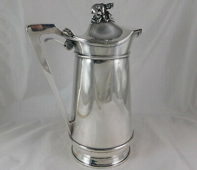 Great Antique Silver Plate Ice Water Pitcher Polar Bear 050 Gorham 1871