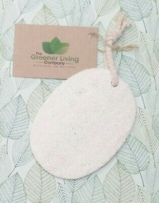 Natural Loofah Dish Scourer Kitchen Scrubber Cleaning Sponge Eco Friendly Oval