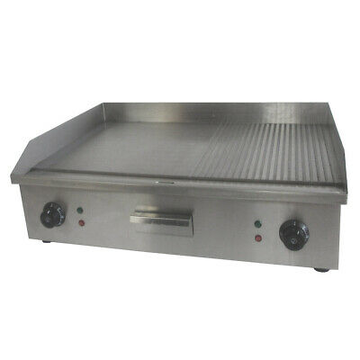 Electric Commercial Griddle Stainless Steel Counter Top Hot Plate Double Sided