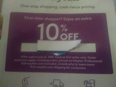 Wayfair coupon 10% entire off your first order