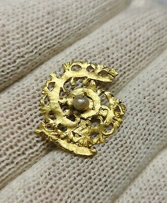Ancient Roman Gold Brooch with Pearl circa 2-3rd century AD SEE PICTURE!! 1,69GR