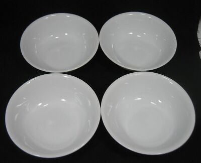 Lot/4 Corelle by Corning Soup & Cereal Bowls Winter Frost White