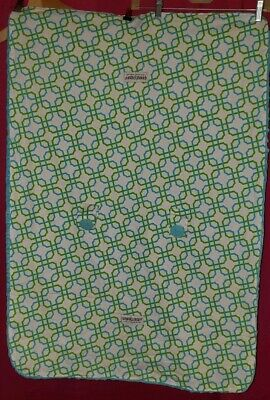 Carseat Canopy Reversible Minky Blue Hayden Soft Bumpy Cover Baby
