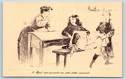 Postcard French Risque Maud Wants To Pervert Another Cartoon Q16