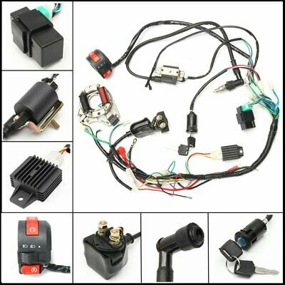 CDI Wire Harness Wiring Loom Coil Rectifier Kit For 50cc 110cc 125cc PIT QuadQ8$