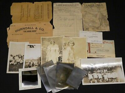 16 x Mixed Lot B&W Photographs Negatives Paper & Slide New Westminster 1920s-60s
