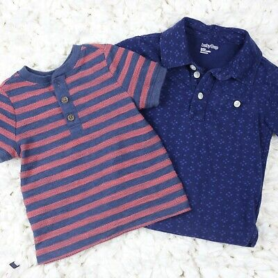 Old Navy & Baby Gap Shirt Lot 12-18 Month Top Toddler Button Henley Polo Boys