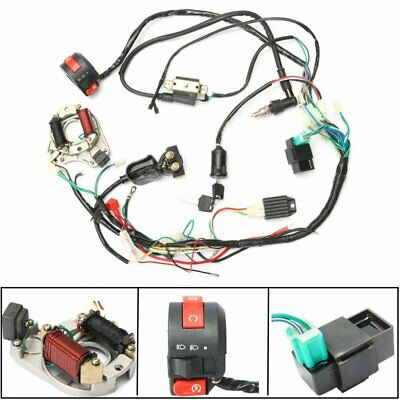 Wiring Harness Loom Solenoid Coil Rectifier CDI 50 70 90 110 125cc ATV Quad FT~#