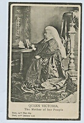 1905 Mourning Postcard Queen Victoria Mother Of Her People Died Jan 1901 C90