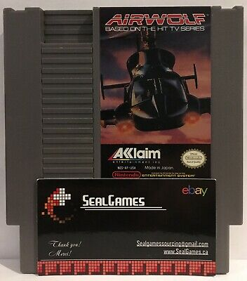 ☆ Airwolf ☆ (Nintendo Entertainment System, NES 1989) Authentic Oem ☆ TESTED ☆