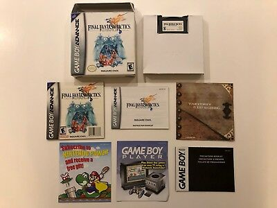 Final Fantasy Tactics [ Nintendo GameBoy Advance ] GBA ,Complete in Box