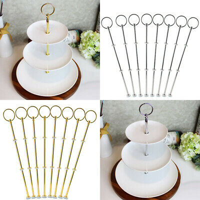 3 layers Cake Plate Stand Support Detachable Tray Cupcake Zinc Alloy Durable