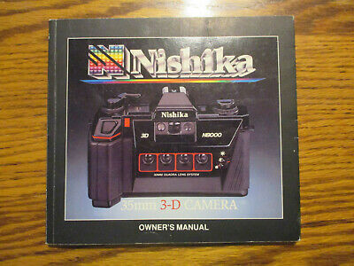 Nishika 35Mm 3-D Camera N8000 Owners Manual